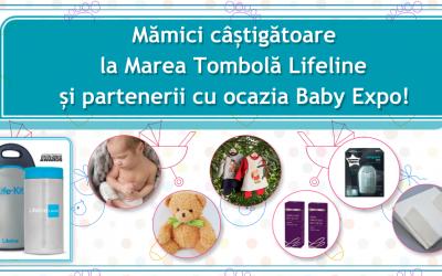 Mămici câștigătoare la Marea Tombolă Lifeline și partenerii cu ocazia Baby Expo