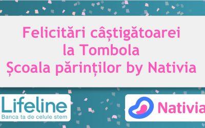 Felicitări câștigătoarei la Tombola Școala părinților by Nativia