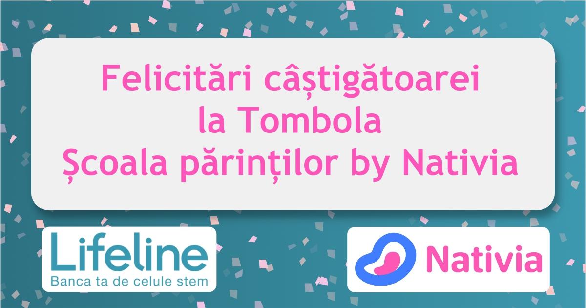 Mămică câștigătoare la Tombola Școala părinților by Nativia