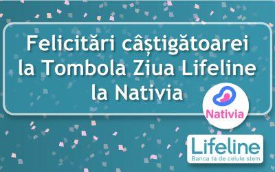 Felicitări câștigătoarei la Tombola Ziua Lifeline la Nativia
