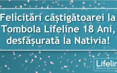 Felicitări câștigătoarei la Tombola Lifeline 18 Ani, desfășurată la Nativia!