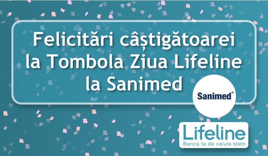 Felicitări câștigătoarei la Tombola Ziua Lifeline la Sanimed