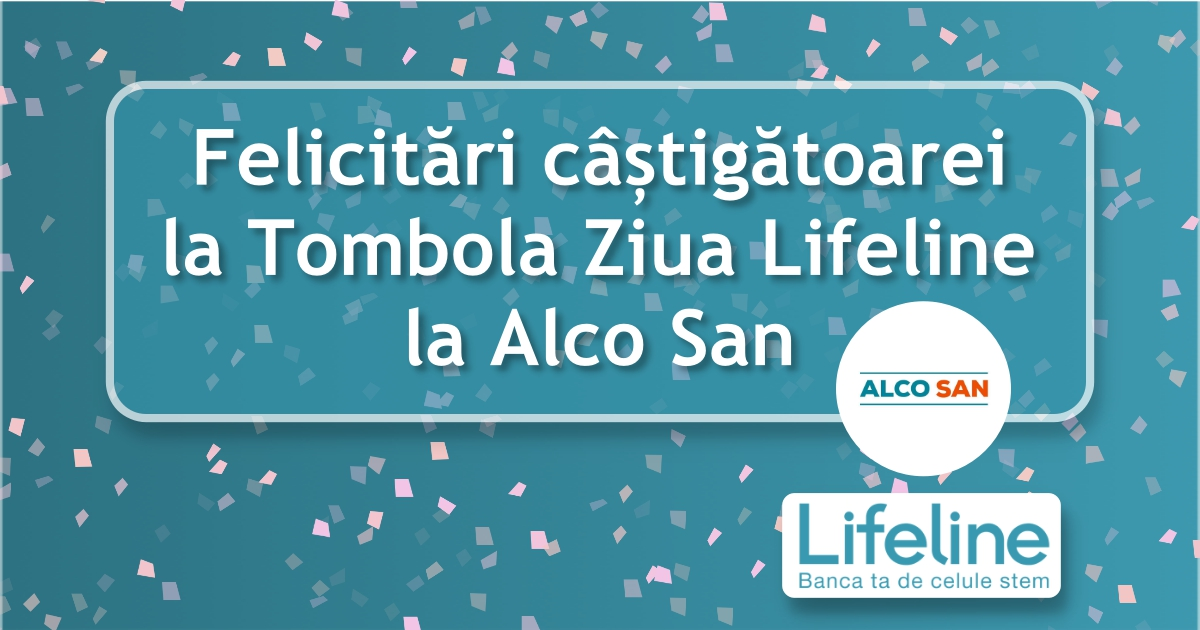 Felicitări câștigătoarei la Tombola Lifeline – Clinica Alco San!