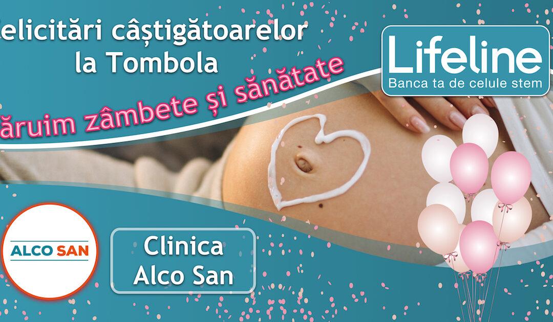 Mămici câștigătoare la Tombola Lifeline la Clinica Alco San