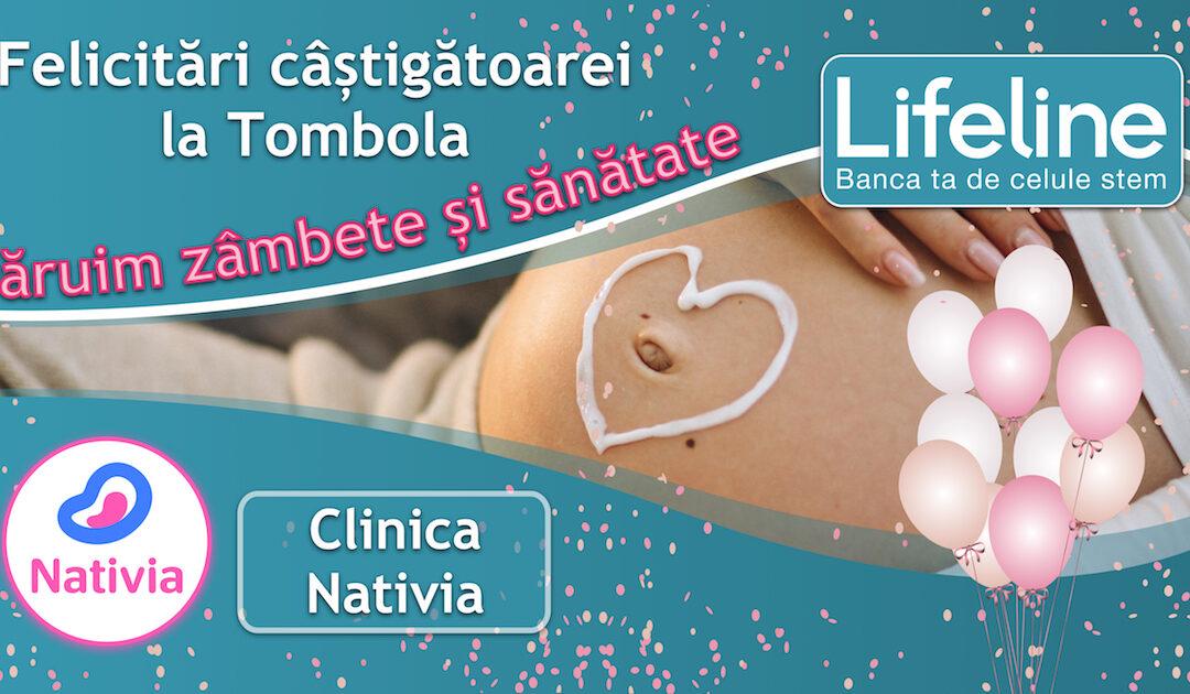 Mămică câștigătoare la Tombola Lifeline la Clinica Nativia!