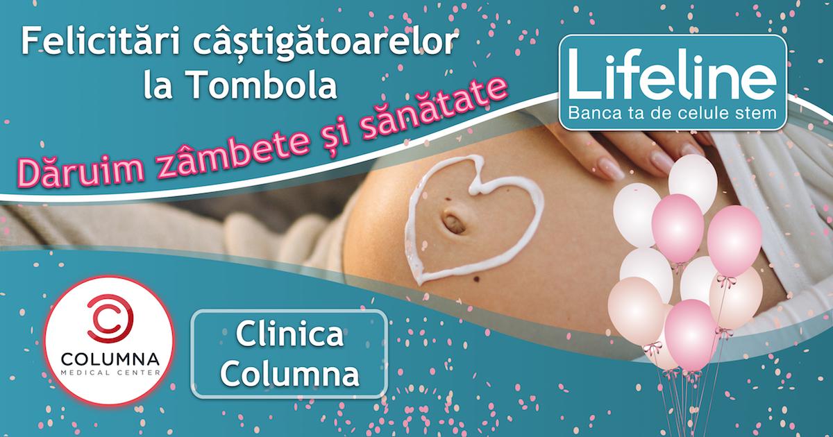 Mămici câștigătoare la Tombola Lifeline la Clinica Columna
