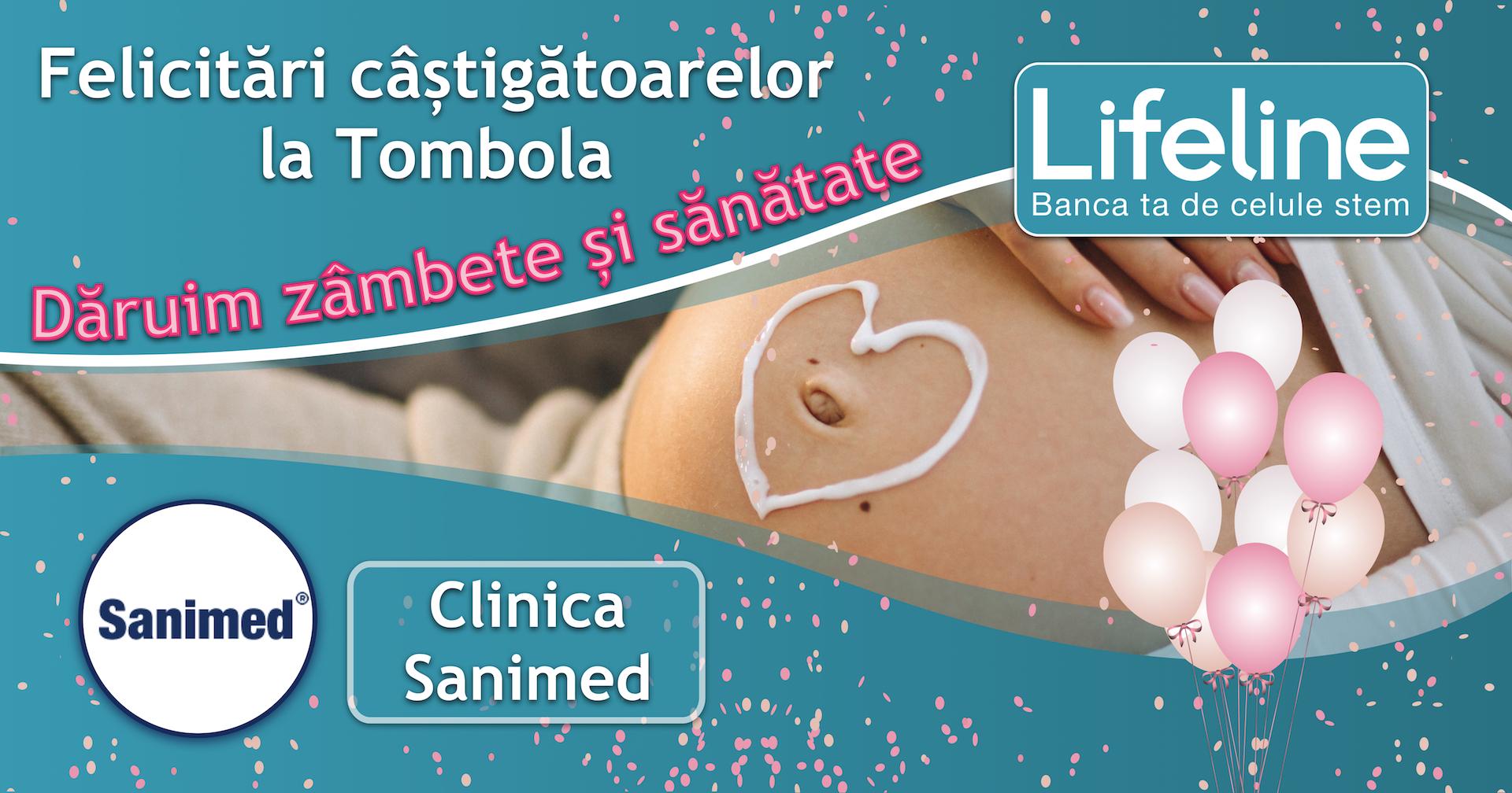 Mămici câștigătoare la Tombola Lifeline la Clinica Sanimed