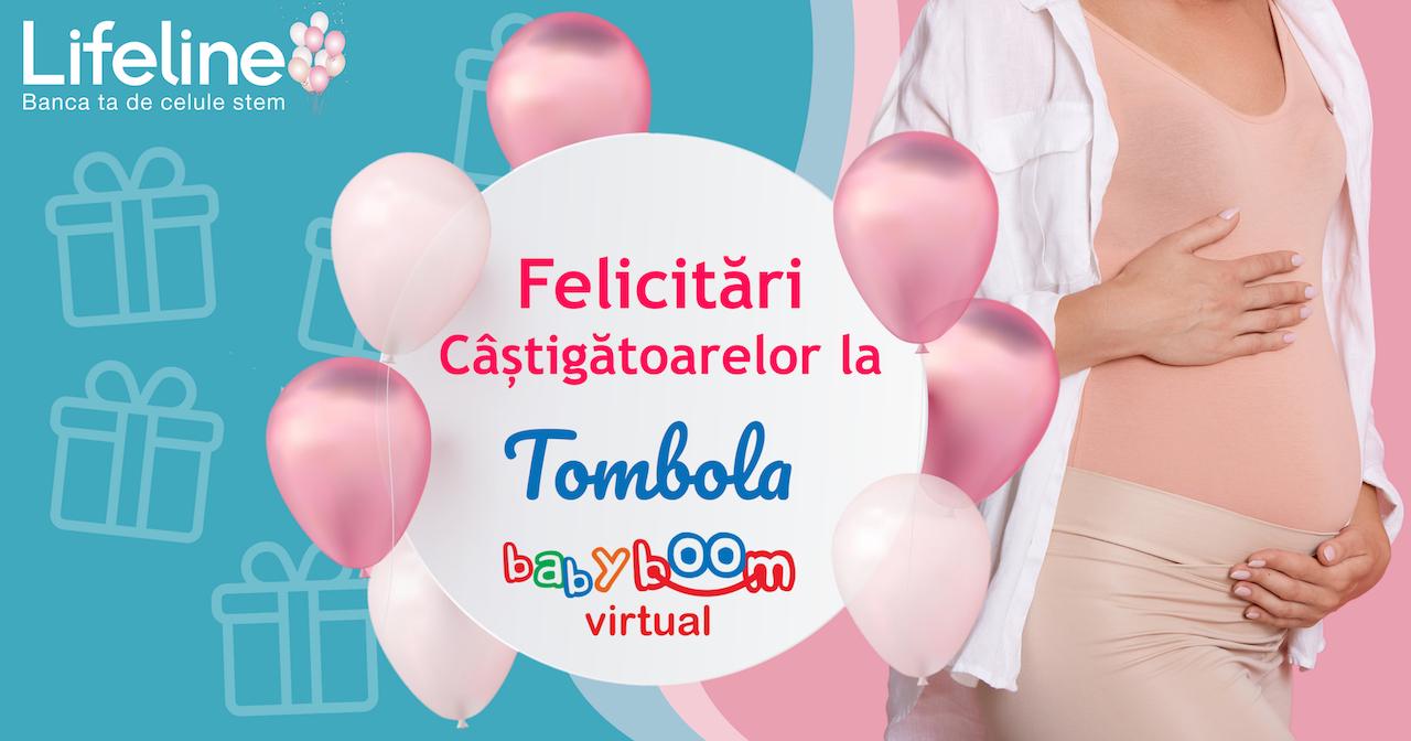 Mămici câștigătoare la Tombola Lifeline la Baby Boom Virtual