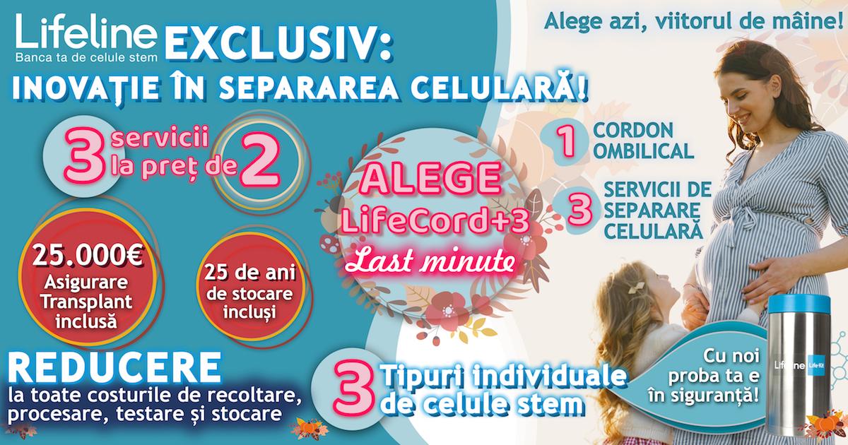 LifeCord+3: 3 servicii la pret de 2 - oferta celule stem Lifeline
